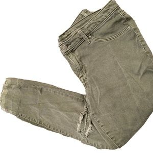 Mossimo Mid-Rise Jegging Green Super Stretch 12